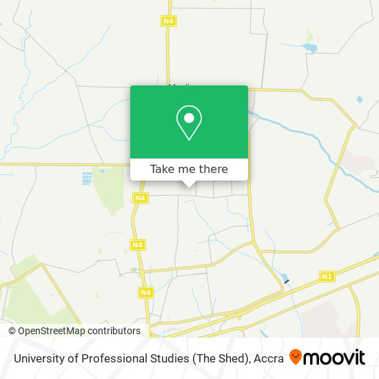 University of Professional Studies (The Shed) map