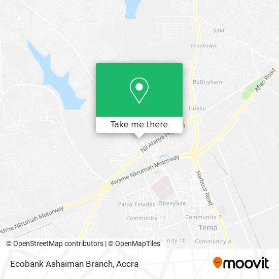 Ecobank Ashaiman Branch map