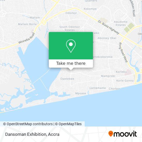 Dansoman Exhibition map