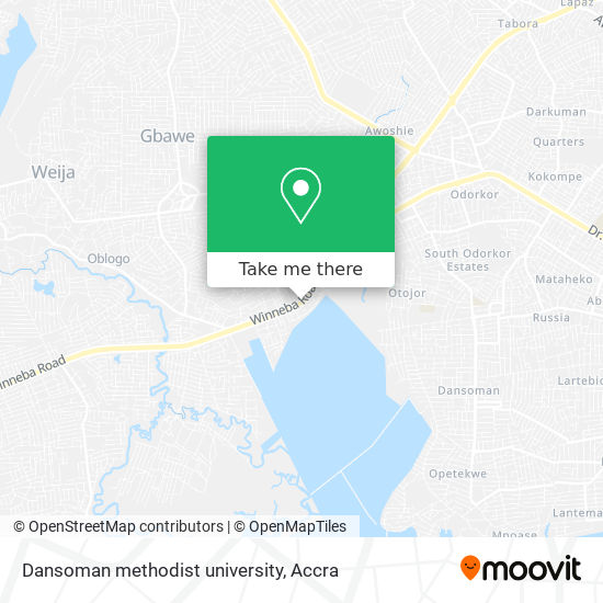 Dansoman methodist university map