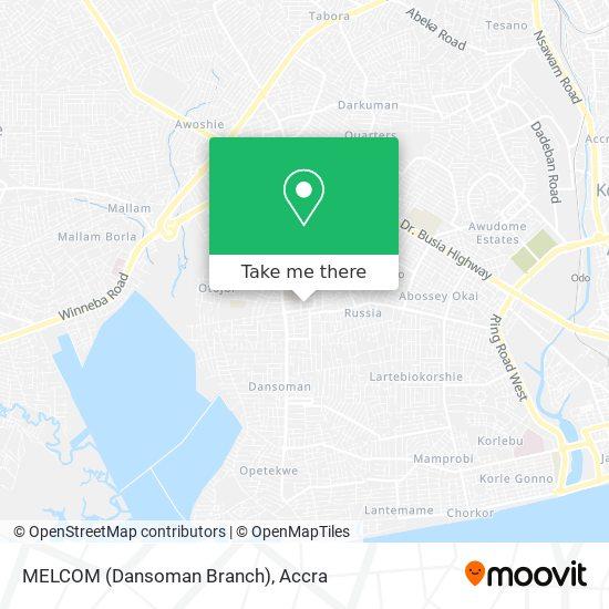 MELCOM (Dansoman Branch) map