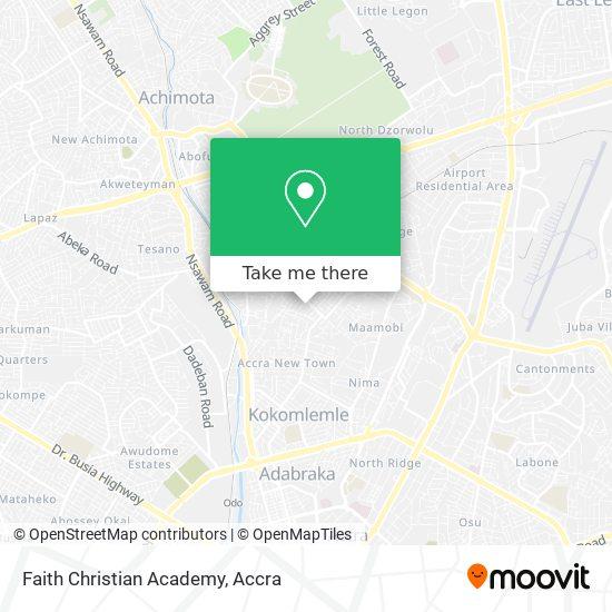 Faith Christian Academy map