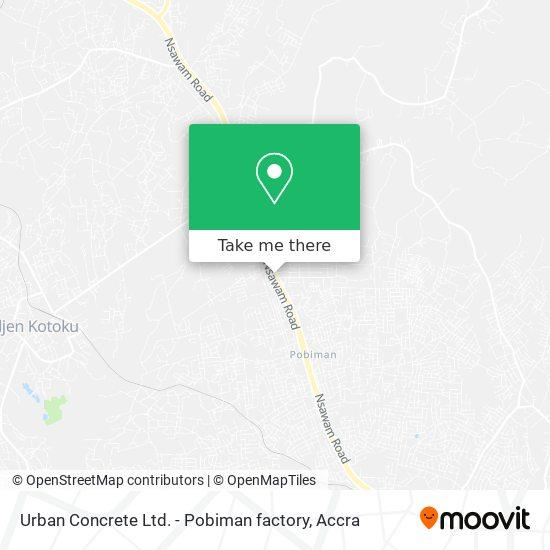 Urban Concrete Ltd. - Pobiman factory map