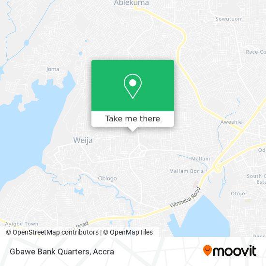 Gbawe Bank Quarters map