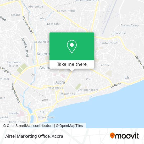 Airtel Marketing Office map