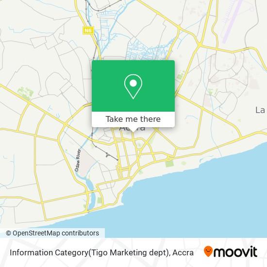 Information Category(Tigo Marketing dept) map