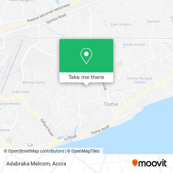 Adabraka Melcom map