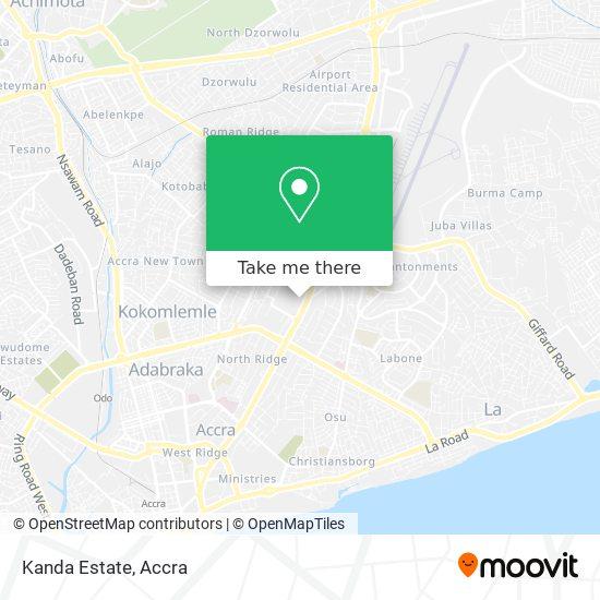 Kanda Estate map