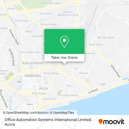 Office Automation Systems International Limited map