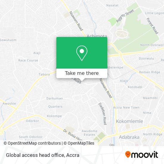 Global access head office map