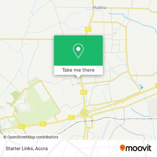 Starter Links map