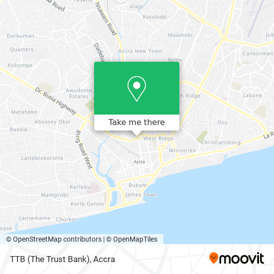 TTB (The Trust Bank) map