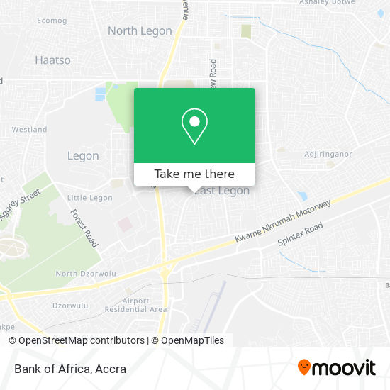 Bank of Africa map