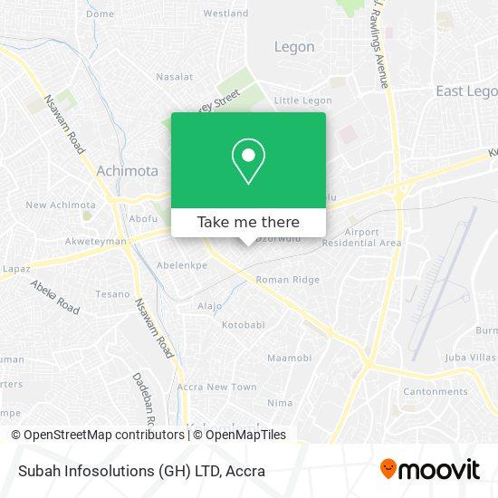 Subah Infosolutions (GH) LTD map