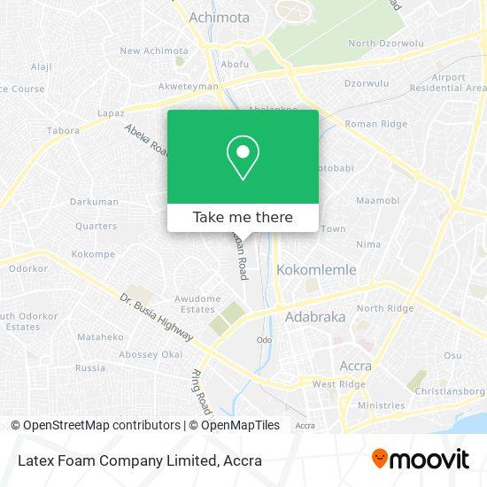 Latex Foam Company Limited map