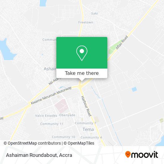Ashaiman Roundabout map