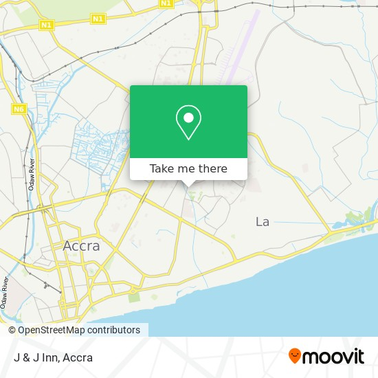 J & J  Inn map