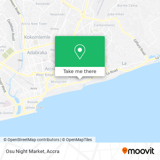 Osu Night Market map
