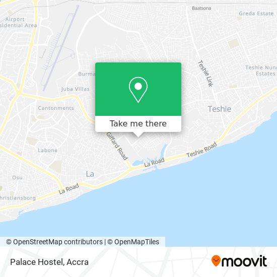 Palace Hostel map