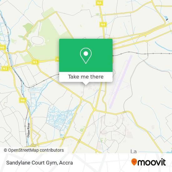 Sandylane Court Gym map