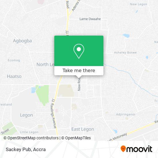Sackey Pub map