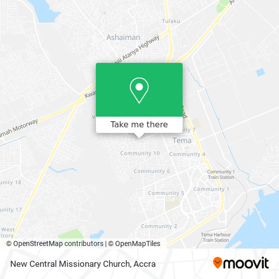 New Central Missionary Church map