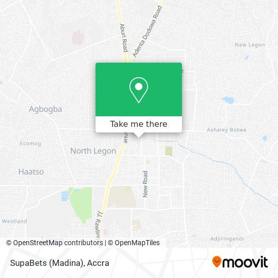 SupaBets (Madina) map