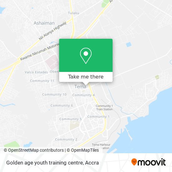 Golden age youth training centre map