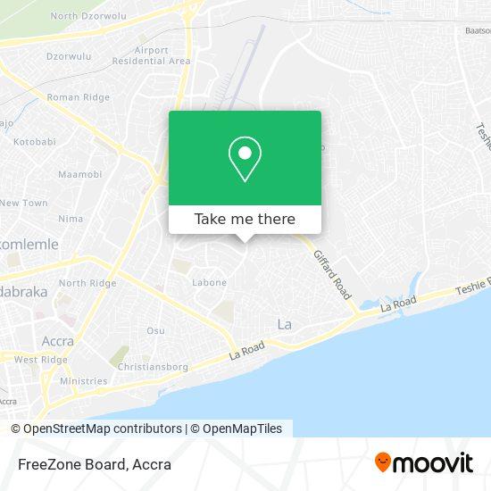 FreeZone Board map