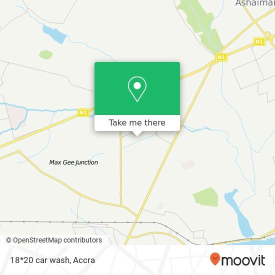 18*20 car wash map