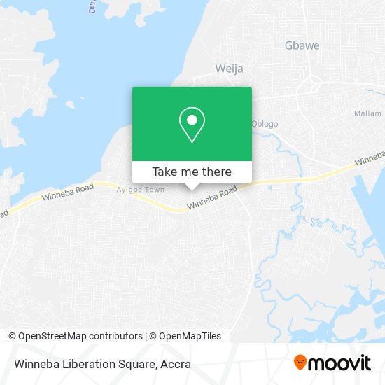 Winneba Liberation Square map