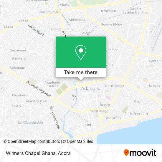 Winners Chapel Ghana map