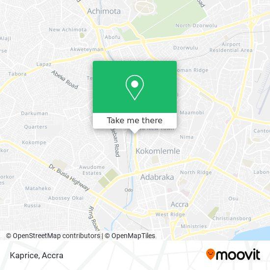 Kaprice map