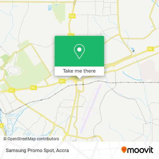Samsung Promo Spot map