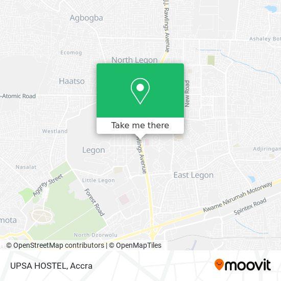 UPSA HOSTEL map