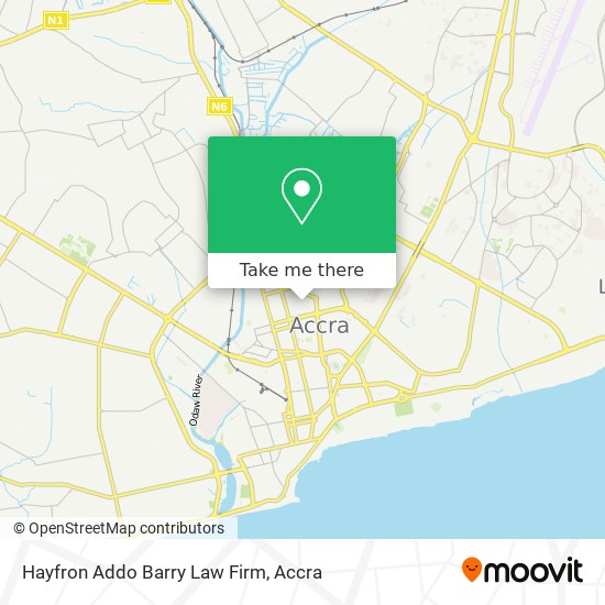 Hayfron Addo Barry Law Firm map