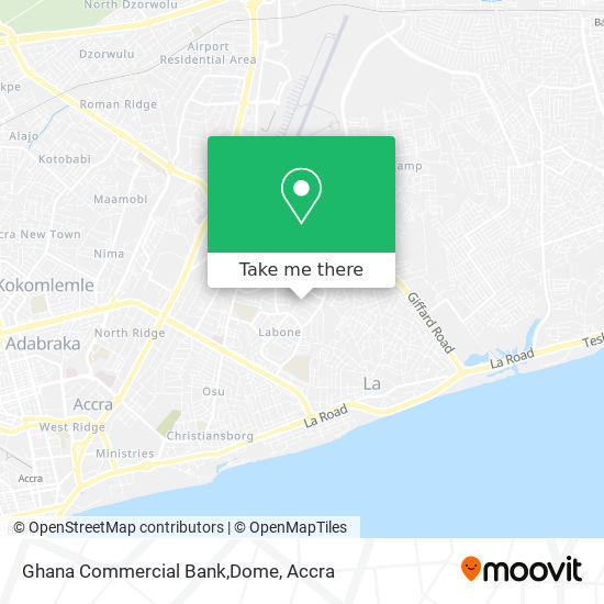 Ghana Commercial Bank,Dome map