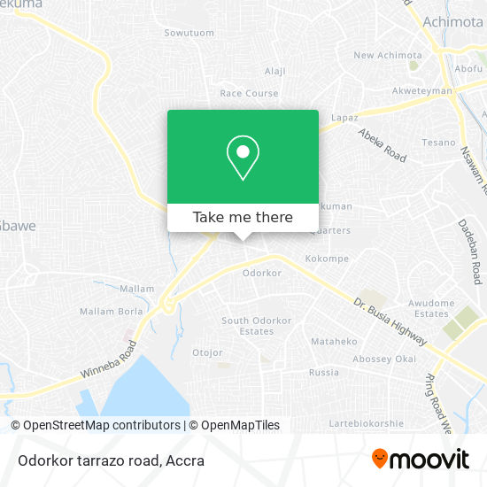Odorkor tarrazo road map