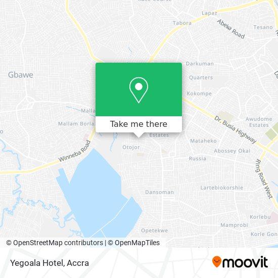 Yegoala Hotel map