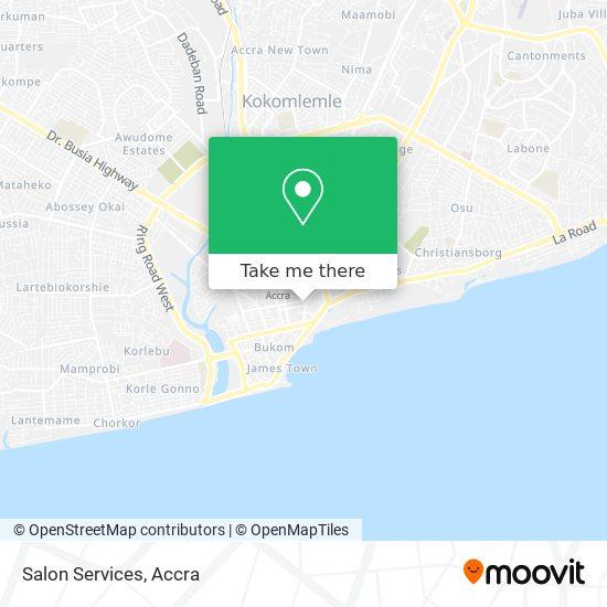 Salon Services map