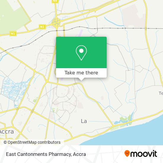 East Cantonments Pharmacy map