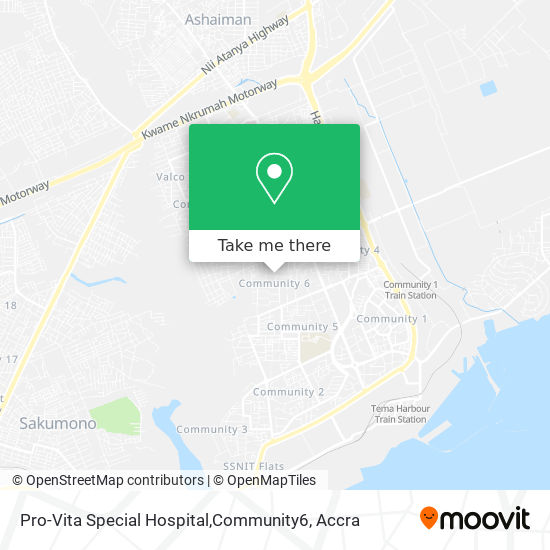 Pro-Vita Special Hospital,Community6 map