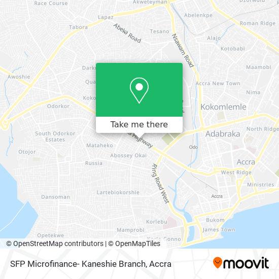 SFP Microfinance- Kaneshie Branch map
