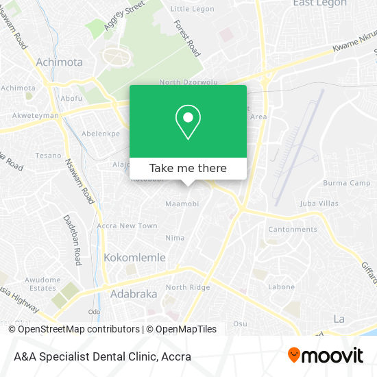 A&A Specialist Dental Clinic map