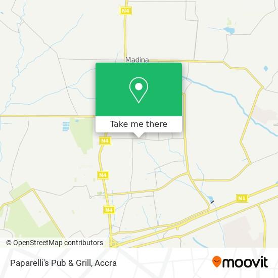 Paparelli's Pub & Grill map