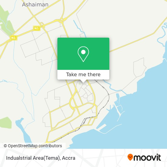 Indualstrial Area(Tema) map
