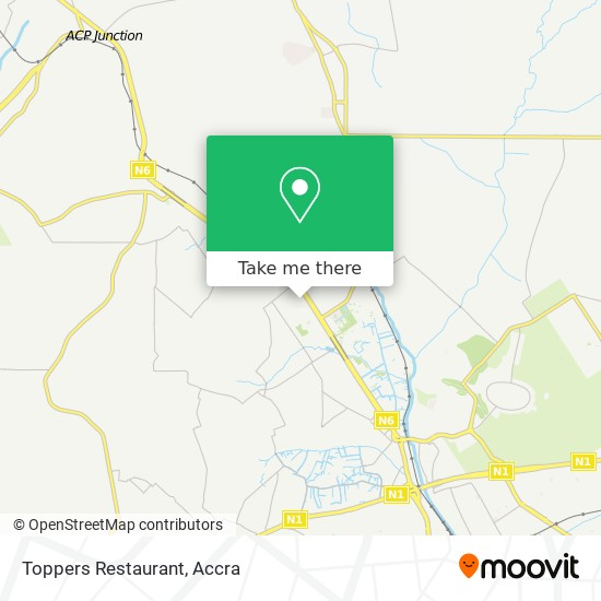 Toppers Restaurant map