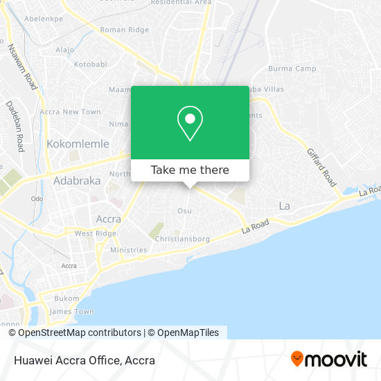 Huawei Accra Office map