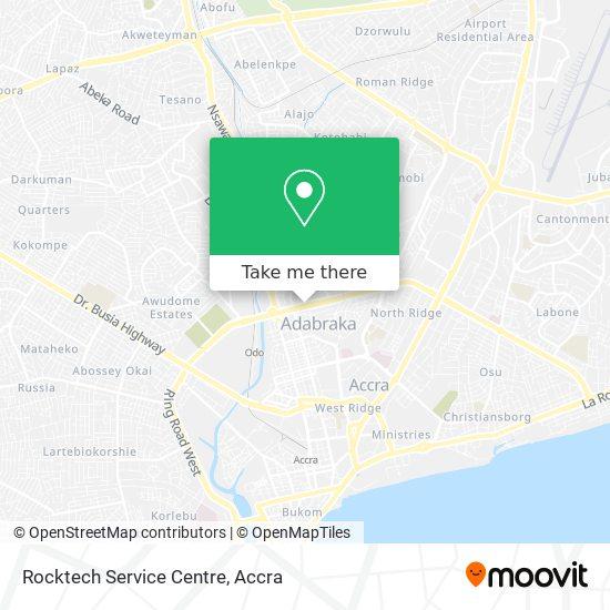 Rocktech Service Centre map
