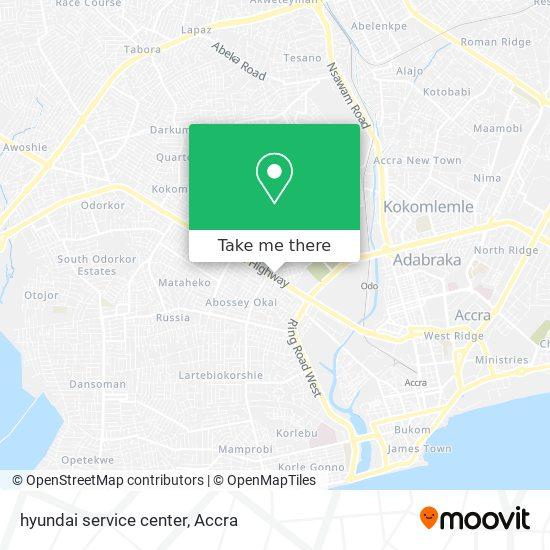 hyundai service center map